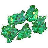 AITELEI Unregelmäßige natürliche Titan Grün Druzy Quarz Cluster Crystal Geode Edelstein Probe Heilung...