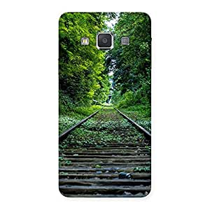 Impressive Beautiful Track Green Back Case Cover for Galaxy A3