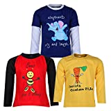 #7: Goodway Pack of 3 Boys Full Sleeve Colour T-Shirts Did You Know Theme-3