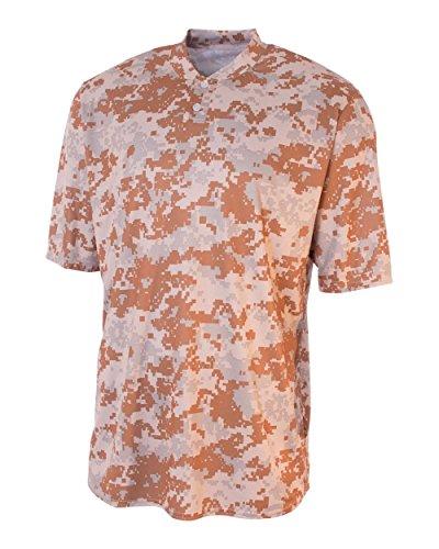 Camo 2-Button Henley Shirt SAND CAMO XL (Camo Shirt Henley)