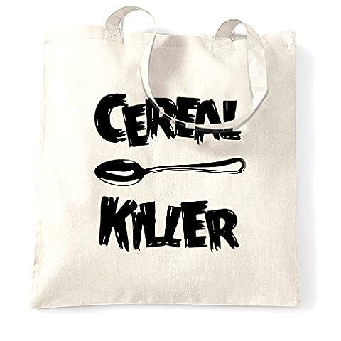 Cereal Killer Löffel Lustige Frühstück Speisen, Humor, Slogan Chef Tragetasche