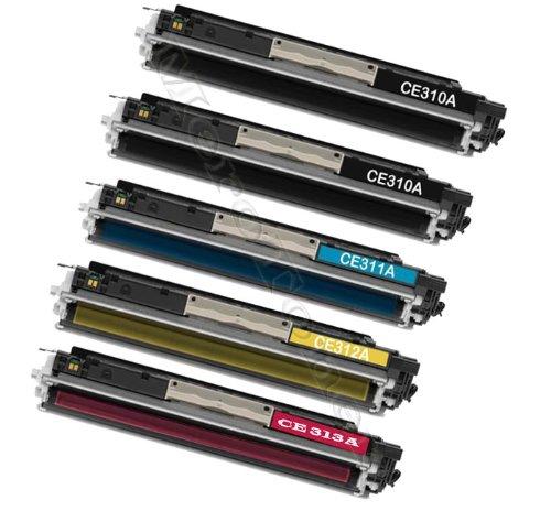 HP 126 A - HP CE310 a, CE 310 A, CE311 A, CE 311 A, CE312 A, CE 312 A, CE313 A, CE 313 A/HP LaserJet Pro 100 color MFP M 175 NW, MFP M175, 126 A (1.200 Páginas Negro por cada color 1.000 páginas C/Y/M)