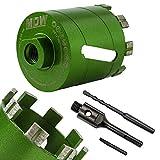 MDW Laser Diamant Dosensenker Turbo Ø 68 mm inkl. SDS-Plus oder 6kant-Aufnahme