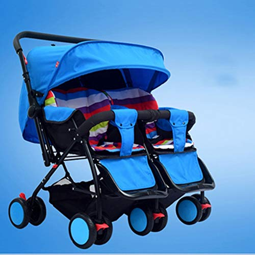 I will take action now Twin baby strollers can sit and gently fold twins and phoenix carts four seasons universal second child artifact bb car (color : C)