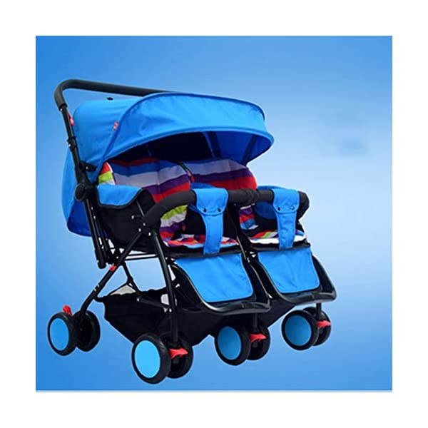 I will take action now Twin baby strollers can sit and gently fold twins and phoenix carts four seasons universal second child artifact bb car (color : C) I will take action now The seat is comfortable, you can face the outside world, breathable comfort and easy travel. Innovative canopy design, high-quality fabric, warm sunscreen, breathable, anti-40 + UV, crown from plastic to aluminum, more stable and prevent deflection. Freely disassembled, independent space, twins or big treasures, bearing together. 3