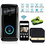 Volwco Video Doorbell, Wireless 720p HD WIFI Security Camera With Indoor Chime And