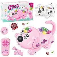 DUCKTOYS Control Remoto Rastreo Rollover Juguete Perro Control Remoto Electrónico Pet Dog Educación Temprana Puzzle Niños Juguetes,Pink