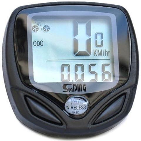 BlueBeach® LCD sans fil Ordinateur de vélo Compteur de vitesse étanche Speedo vélos Bike compteur Cycle Computer - Convient pour la montagne, route, hybride ou BMX