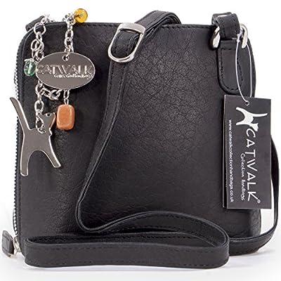 Catwalk Collection Handbags - Cuir Véritable - Petit Sac à Main/Sac Bandoulière/Sac Besace/Sac Porté Croisé - Femme - LENA