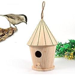 Maison d'oiseaux en bois 14x 8.5cm, Xshuai Nest Dox Nest House Bird House Bird House Nichoir Bird Boîte Boîte en bois, marron, Size: approx. 14x8.5cm/5.5x3.3