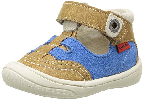 Kickers Zelou, Chaussures Bébé marche bébé garçon Beige (Beige/Bleu)