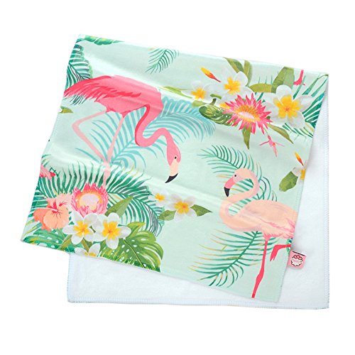 Mangeoo amabile fresco super asciugamano assorbente in fibra di bambù asciugamano asciugamano da bagno telo da spiaggia 70x35cm, 140x70cm,tropical flamingo,70x35cm