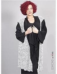 Edmond Boublil - Vêtement Femme Grande Taille Gilet Plissé Imprimé Bicolore