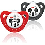 NUK Disney Mickey & Minnie 6-18mths Silicone Orthodontic Soother (2 pack)