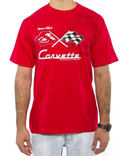 8ea29f1d J.H. Design Chevy Corvette Collage - Camiseta para Hombre, Color Rojo