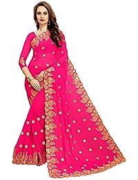 [Sponsored]Zofey Designer Sarees Women's Georgette Embroidered Saree With Blouse Piece(MangoPink-SAREE01_Pink_COLOUR)
