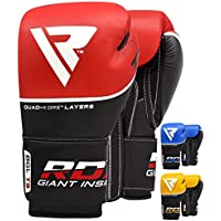 RDX Guantes de Boxeo Kick Boxing Muay Thai Sparring Saco Entrenamiento Adulto Genuino Cuero Vacuno Combate