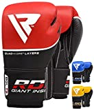 Best Boxing Gloves 16ozs - RDX Adult Training Boxing Gloves Red red Size:10 Review