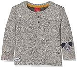 s.Oliver Baby-Jungen Langarmshirt 65.809.31.8142, Grau (Metallic Melange 00w6), 86