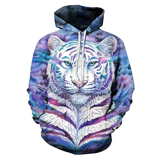 MUwan-WY Colorful Tiger 3D Sudaderas Hombres