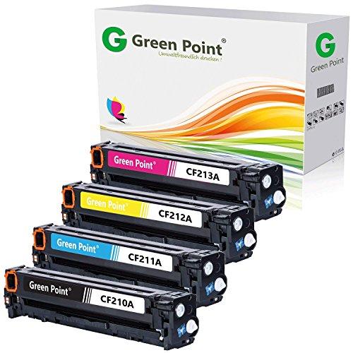 Greenpoint® 4er Pack Toner-/Druckerpatronen Kompatibel zu HP CF210A CF211A CF212A CF213A für HP LaserJet Pro 200 Color M 251/M 251N/MFP M276/MFP M276nw (Farb-laser-drucker Modell)