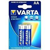 High Energy 2 AA Size Alkaline Batteries