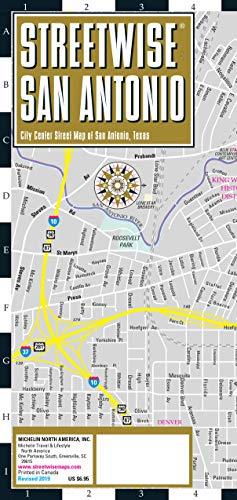 Michelin Streetwise San Antonio: City Center Map of San Antonio, Texas (Michelin Streetwise Maps)