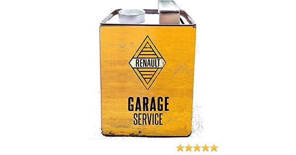 Les Collections R/étro Tirelire f/ût dhuile Garage Renault h12,5x8,5cm