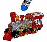 Seifenblasen Maschine Kinder Spielzeug Eisenbahn Zug Lok Train Lokomotive mit Sound & Licht Effekte NEU