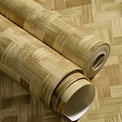 Fuxitoggo Chinesische Weinlese-Nachahmungstroh-Bambuswebart-Muster-Tapete-Matte des Bambus-Bambus-traditionelle Klassische Volksart-einfache Tapete (Farbe : Grün, Größe : 5.3 Square Meters per roll) -
