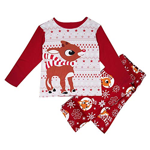 (Chirstmas Kleidung Familie Passenden Pyjama Set Frauen Männer Kinder Baby Rentier Tops Bluse Hosen Nachtwäsche Outfits)