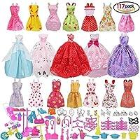 Accesorios muñecas barbie,Accesorios de Vestir para las Muñecas de Barbie, 14pcs Verano Faldas