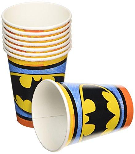 Amscan International Pappbecher 266ml Batman Papier -