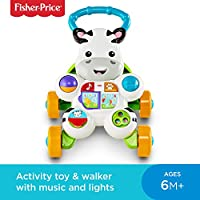 Fisher-Price DLF00 Learn with Me Zebra Walker, Baby or Toddler Walker and Electronic Educational Toy with Music and Sounds - ukpricecomparsion.eu