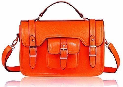 TrendStar Heißer Verkauf Unisex Konstrukteur Schultaschen Kunstleder Büroarbeit College Messenger Umhängetaschen Orange Klassiker Mit Tasche