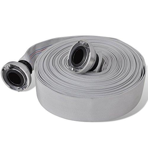 Festnight- Tubo flessibile antincendio piatto/Tubo di Mandata Piatto 30 m con giunti C-Storz 2 pollici
