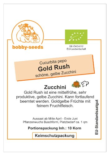 Bobby-Seeds Bio-Zucchinisamen Gold Rush Portion