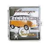VW ZIGARETTENETUI Samba Bulli BRAUN Leder Zigaretten Etui Zigarettenbox Case 66
