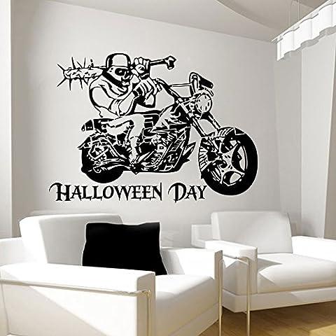 Halloween Vinilo de pared Calcomanías moto vinilo adhesivo dormitorio hogar decoración dormitorio sala de estar diseño Interior Hall Art murales