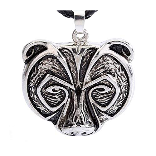 DRAKNET Collar Oso Vikingo Amuleto talismán Runa