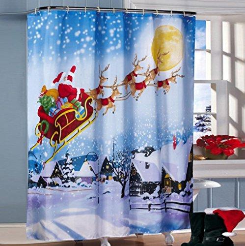 Rcool Gewohnheit frohe Weihnachten Gewebe-wasserdichtes Badezimmer-Duschvorhang 72x72inch / 180x180cm
