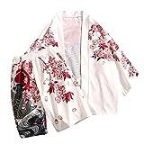 JYJM_Femmes Hommes Japonais Style Kimono Costume Ensemble Printed Thin Section Loose...
