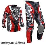 New WULFSPORT ATTACK MX Bambini Tuta Moto Pantaloni e Maglia Bambini Moto Scooter ATV Quad Motocross...