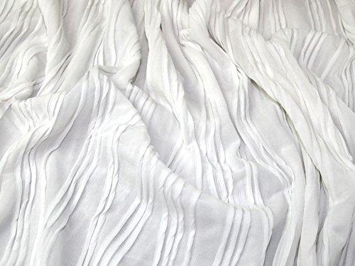 Wave Knit Kleid (Minerva Crafts Strukturierte Wave Stretch Jersey Knit Kleid Stoff Weiß-Meterware)