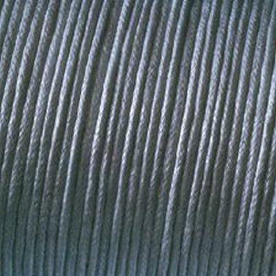 Kumihimo 1mm x 6m Baumwolle gewachst Cord, grau - Grau Cord