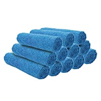Ezee Multipurpose Microfiber Cleaning Cloth - 14 x 14 inches (Blue, Pack of 12)