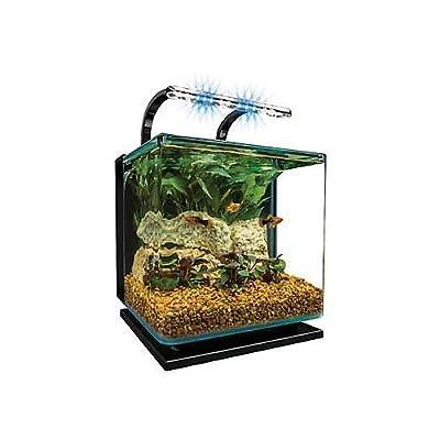 Marineland Contour Glass Aquarium Kit with Rail Light