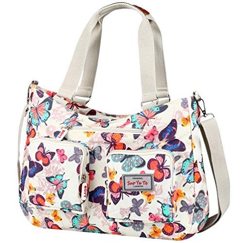 Vbiger Handtasche Damen Gross Schultertasche Wasserdichte Umhängetasche Shopper Tasche Nylon für Frauen
