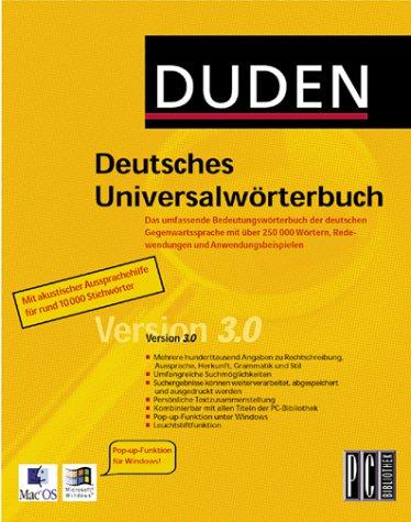 Deutsches Universalwörterbuch pc-bibliothek