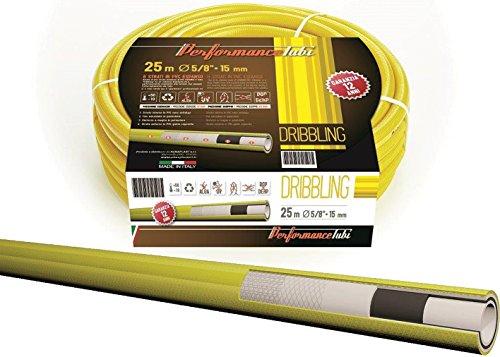 ALMAPLAST S.R.L. Gartenschlauch A 6Schichten aus PVC Schaumstoff mit doppelter Verstärkung Textil 50Meter-Typ Dribbling